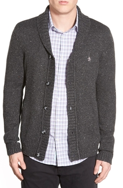 Heritage Slim Fit Shawl Collar Cardigan by Original Penguin in Neighbors 2: Sorority Rising