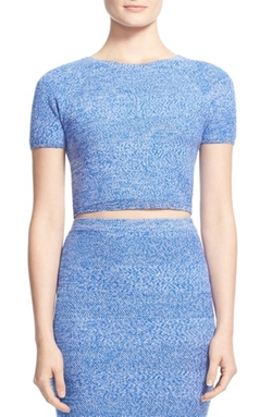 'Solange' Merino Wool Knit Crop Top by Alice + Olivia in Scream Queens