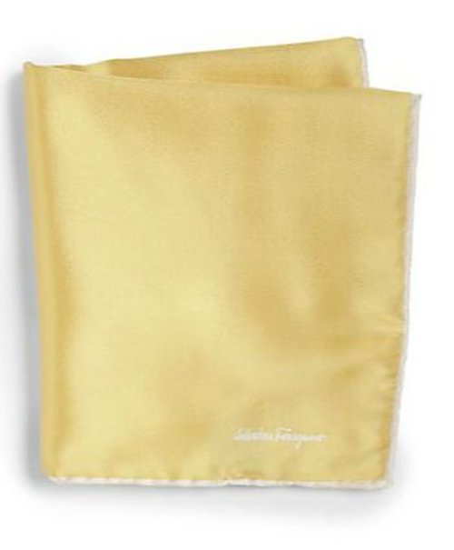 Silk Twill Pocket Square by Salvatore Ferragamo in Shutter Island