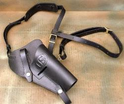 Leather Shoulder Holster Embossed U.S. by International Military Antiques, Inc. in Brick Mansions