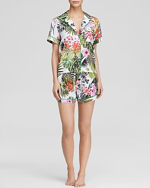 Botanical Spring Short Pajama Set by Clover Canyon in Pretty Little Liars - Season 6 Episode 15