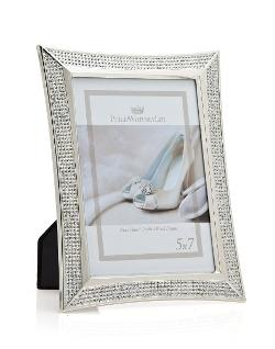 Silver Elipse Diamond Picture Frame by Philip Whitney in Addicted