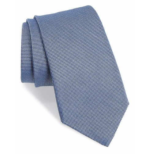 Textured Cotton & Silk Blend Tie by Gitman in House of Cards - Season 4 Episode 3