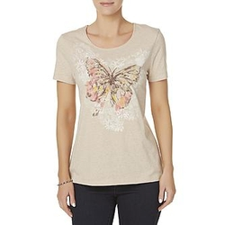 Butterfly Embellished T-Shirt by Laura Scott in Preacher