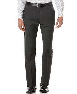 Portfolio Travel Luxe Herringbone Straight-Fit Pants by Perry Ellis in Neighbors