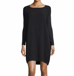Long-Sleeve Silk Dress by Eileen Fisher in The Catch