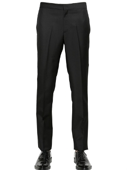 Wool & Mohair Slim Fit Trousers by Givenchy in The Gift