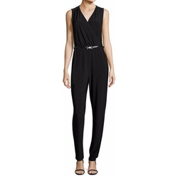 Sleeveless Luxe Jersey Belted Jumpsuit by Nic+Zoe in Atomic Blonde