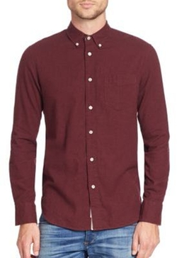 Standard Issue Brushed Flannel Shirt by Rag & Bone in New Girl