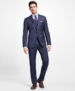 Regent Fit Three-Piece Slim Stripe 1818 Suit by Brooks Brothers in Designated Survivor