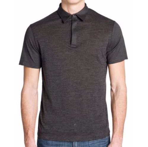 Melange Wool-Blend Polo Shirt by Emporio Armani in Crazy, Stupid, Love.