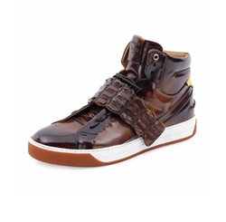Croc-Strap Wimbeldon High-Top Sneakers by Fendi in Empire