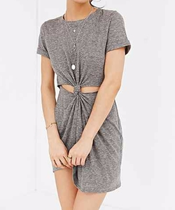 Knot Front T-Shirt Dress by Honey Punch in The Flash