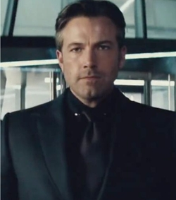 Custom Made Balck Solid Tie by Gucci in Batman v Superman: Dawn of Justice