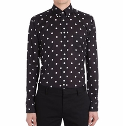 Polka Dot Cotton Muslin Shirt by Eton in Shadowhunters