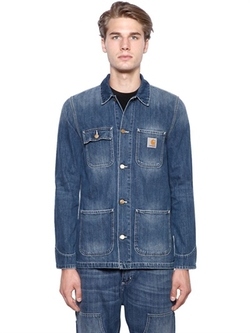 Michigan Chore Cotton Denim Jacket by Carhartt in Midnight Special