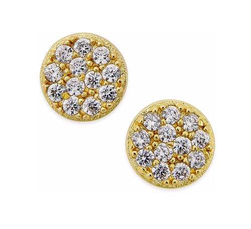 Cubic Zirconia Stud Earrings by Giani Bernini in The Boss
