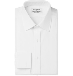 White Tuxedo Shirt With Piqué Bib Front by Turnbull & Asser in Kingsman: The Secret Service