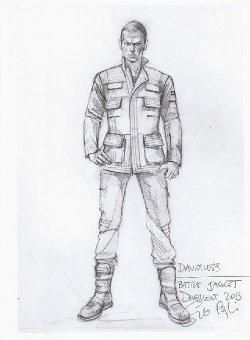 Custom Made 'Dauntless' Battle Uniform Jacket (Eric) by Carlo Poggioli (Costume Designer) in The Divergent Series: Insurgent