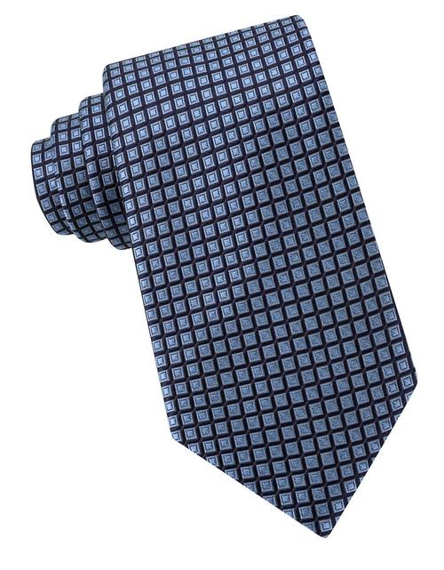 Box-Pattern Silk Tie by Michael Kors in Billions - Season 1 Episode 4