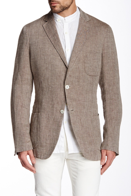 The Herringbone Linen Blazer by Gant by Michael Bastian in Love & Mercy