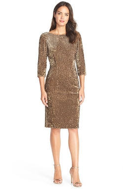 Sequin Velvet Sheath Dress by Eliza J in American Horror Story