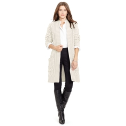 Cable Knit Cotton Cardigan by Ralph Lauren in Nashville