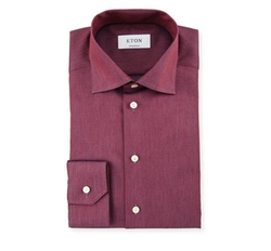 Contemporary-Fit Two-Tone Dress Shirt by Eton in Empire