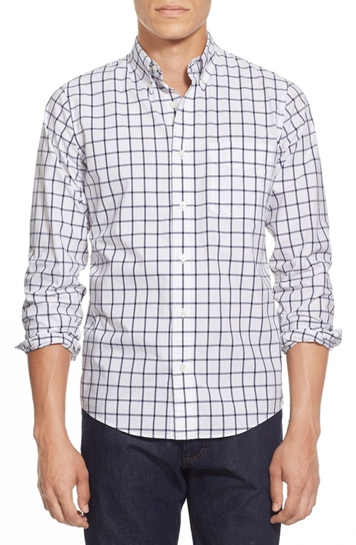 Trim Fit Windowpane Sport Shirt by Jack Spade in Arrow - Season 4 Episode 9