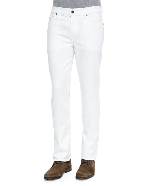 Standard Clean White Jeans by 7 For All Mankind in Get Hard