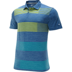 Sport Pile Stripe Golf Polo Shirt by Nike in Ballers