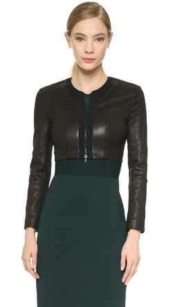 Zip Leather Cardigan by Narciso Rodriguez in The Good Wife