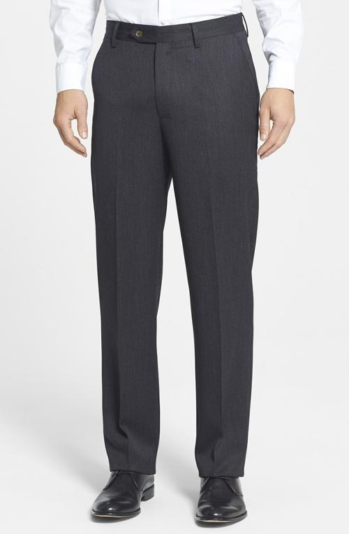 Flat Front Wool Gabardine Trousers by Berle in Anchorman 2: The Legend Continues
