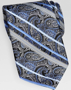 Gray Paisley And Stripe Narrow Tie by Menswearhouse in Anchorman 2: The Legend Continues