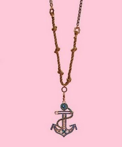 Large Anchor Rope Necklace by Betsey Johnson in Confessions of a Shopaholic