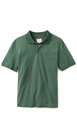 Trap Pocket Polo Shirt by Band of Outsiders in Contraband