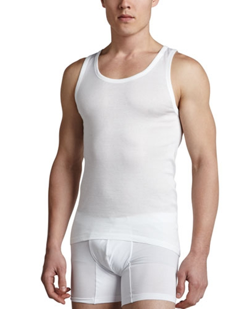 Cotton Pure Tank Top by Hanro in Self/Less