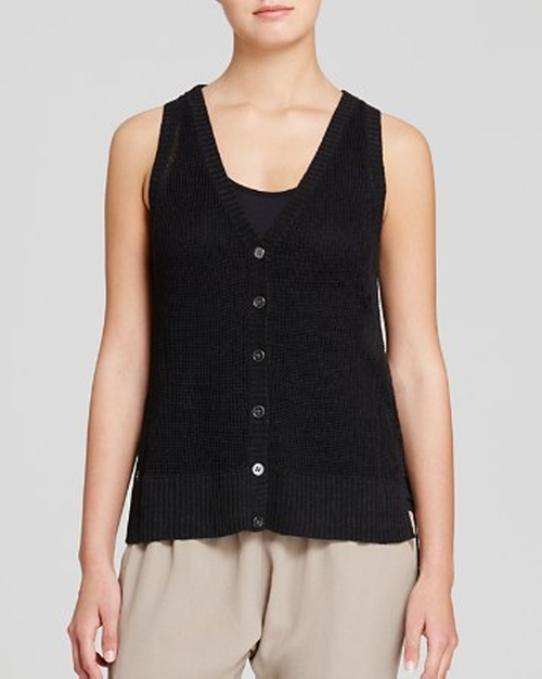 Open Knit Linen Vest by Eileen Fisher in The Big Bang Theory - Season 9 Episode 10