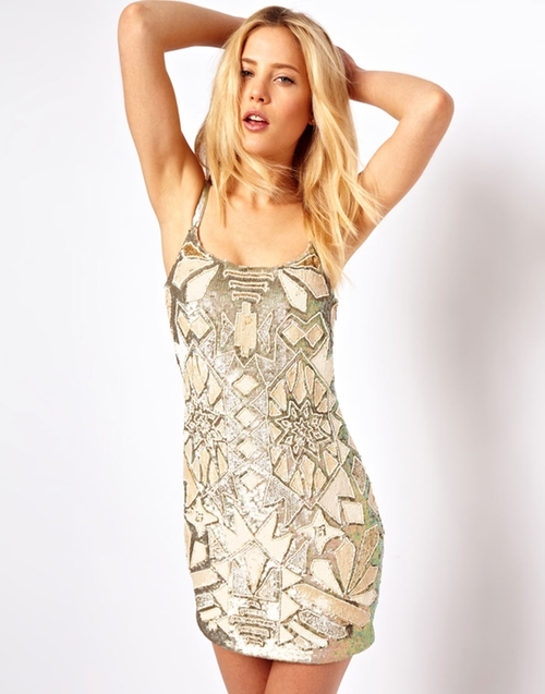 Texcoco Mini Dress by Needle & Thread in The DUFF