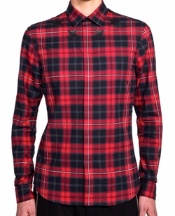 Star Print Plaid Shirt by Givenchy in Empire