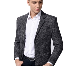 Thick Wool Dark Gray Blazer by Pilaeo in Secret in Their Eyes