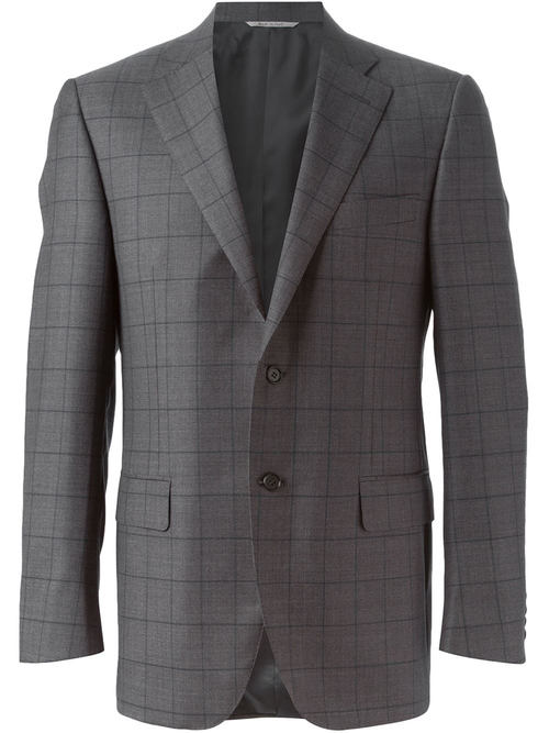 Windowpane Check Suit by Canali in Burn After Reading
