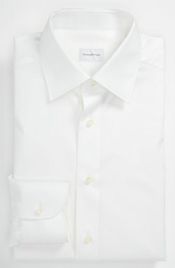Milano Fit Button-Down Collar Dress Shirt by Brooks Brothers in Black or White