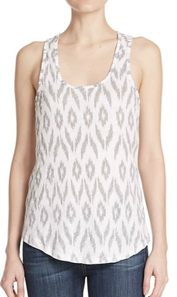 Ikat-Print Basic Cotton Tank Top by Sundry in 99 Homes