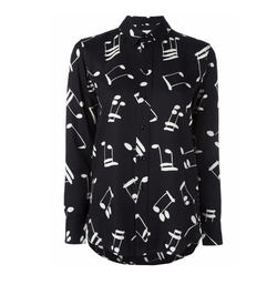 Modified Music Note Printed Shirt by Saint Laurent in Keeping Up With The Kardashians