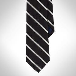 Sudbury Striped Silk Tie by Polo Ralph Lauren in Ted