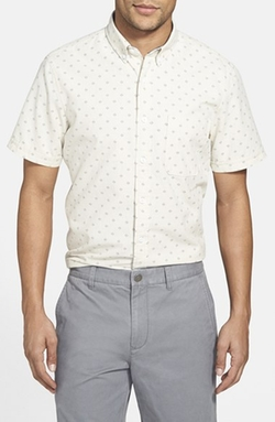 Trim Fit Short Sleeve Print Sport Shirt by Wallin & Bros. in Straight Outta Compton