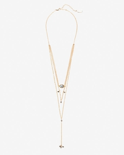 Noa Labradorite/Pyrite Layer Necklace by Ela Rae in Knock Knock