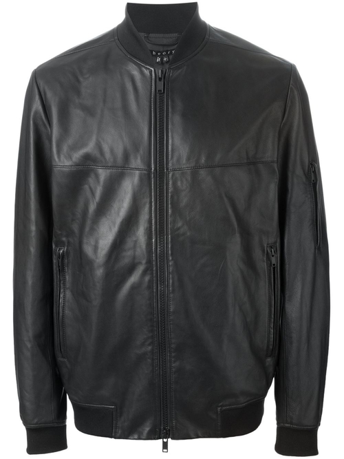 Leather Bomber Jacket by Theory in Ballers - Season 1 Episode 6