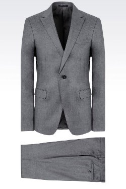 Single-Breasted in Chintzed Flannel Suit by Emporio Armani in The Counselor